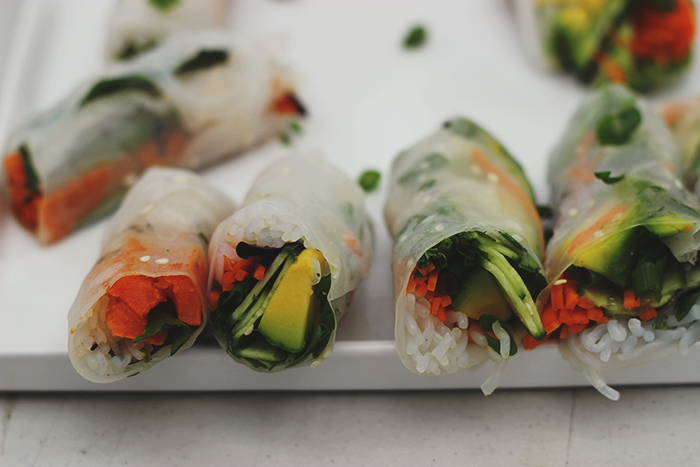 rice paper rolls cover shot